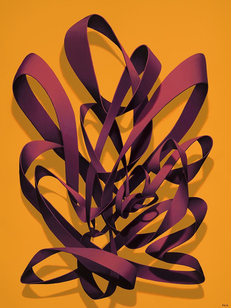 "MAGENTA KNOT ON ORANGE | 30"" x 40"" 