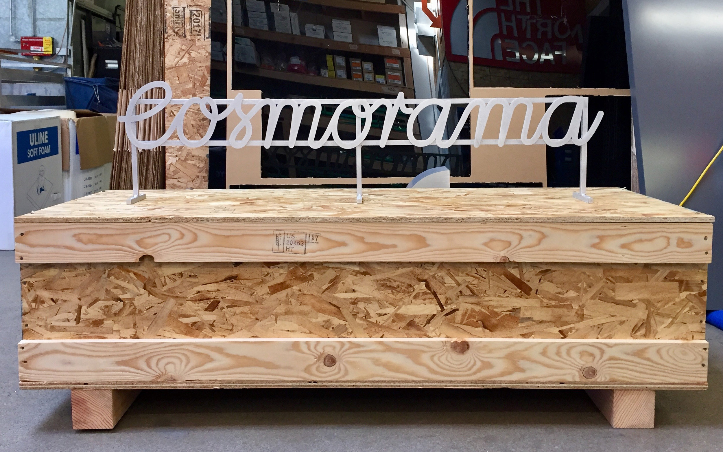 In-process Cosmorama sign. Image © Western Neon 2018