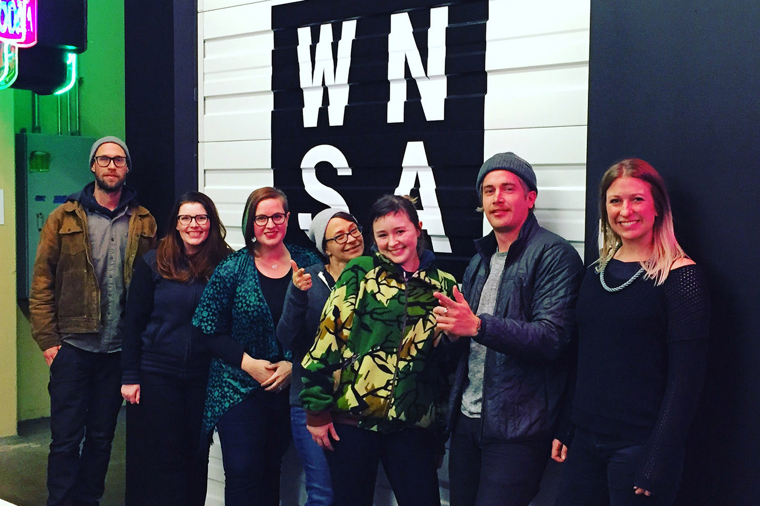 Our first students! Winter 2018. Image  ©  2018 Western Neon School of Art.