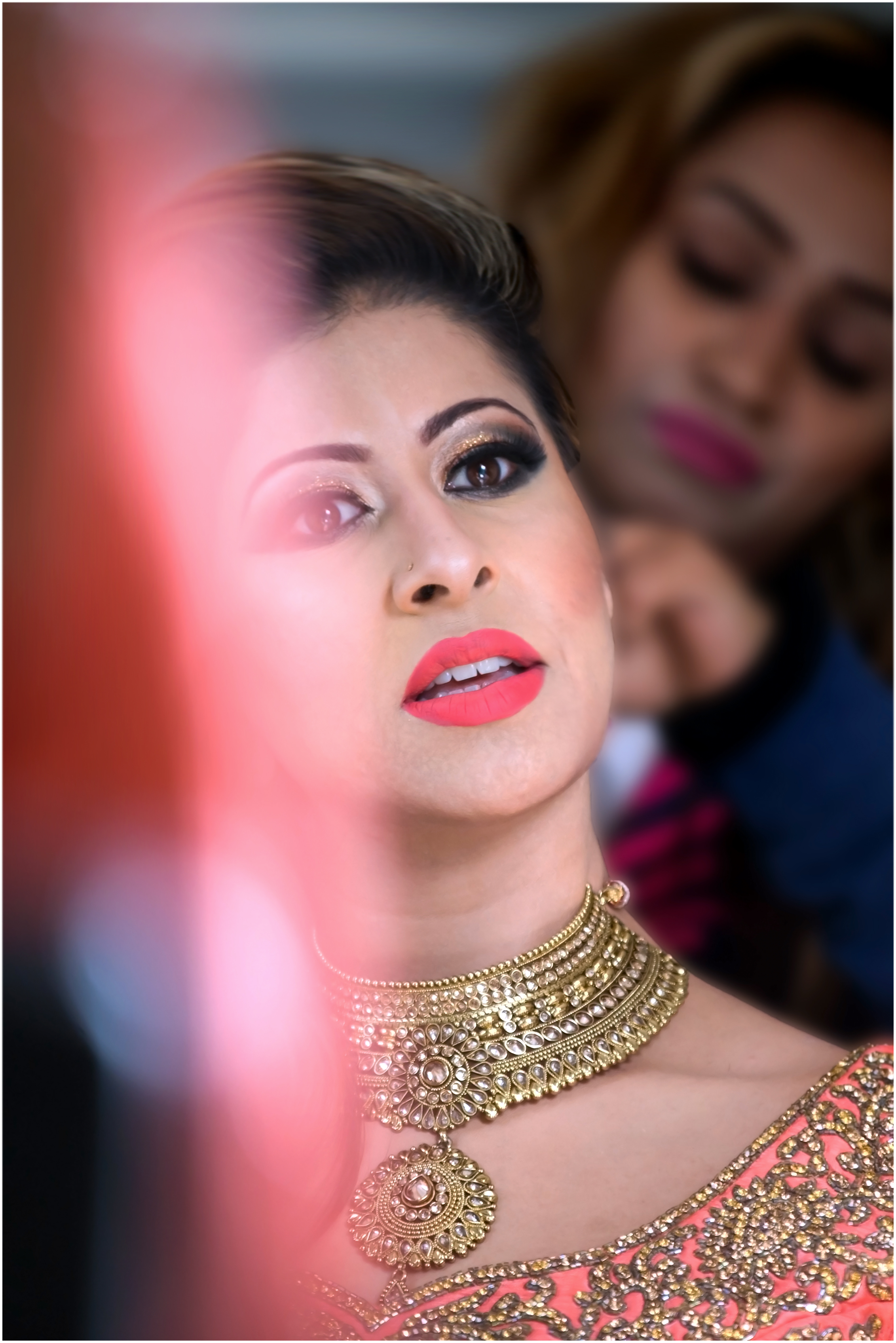 bridal makeup - getting ready for the Nikaah and wedding.