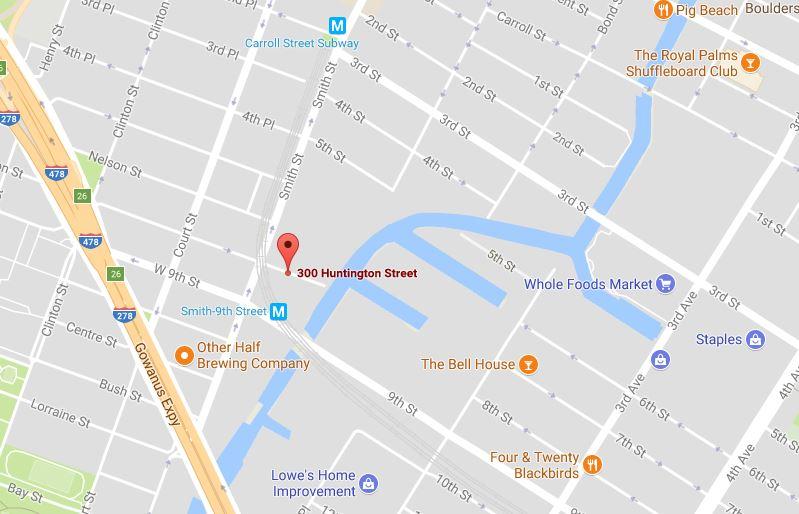 Map of 300 Huntington Street