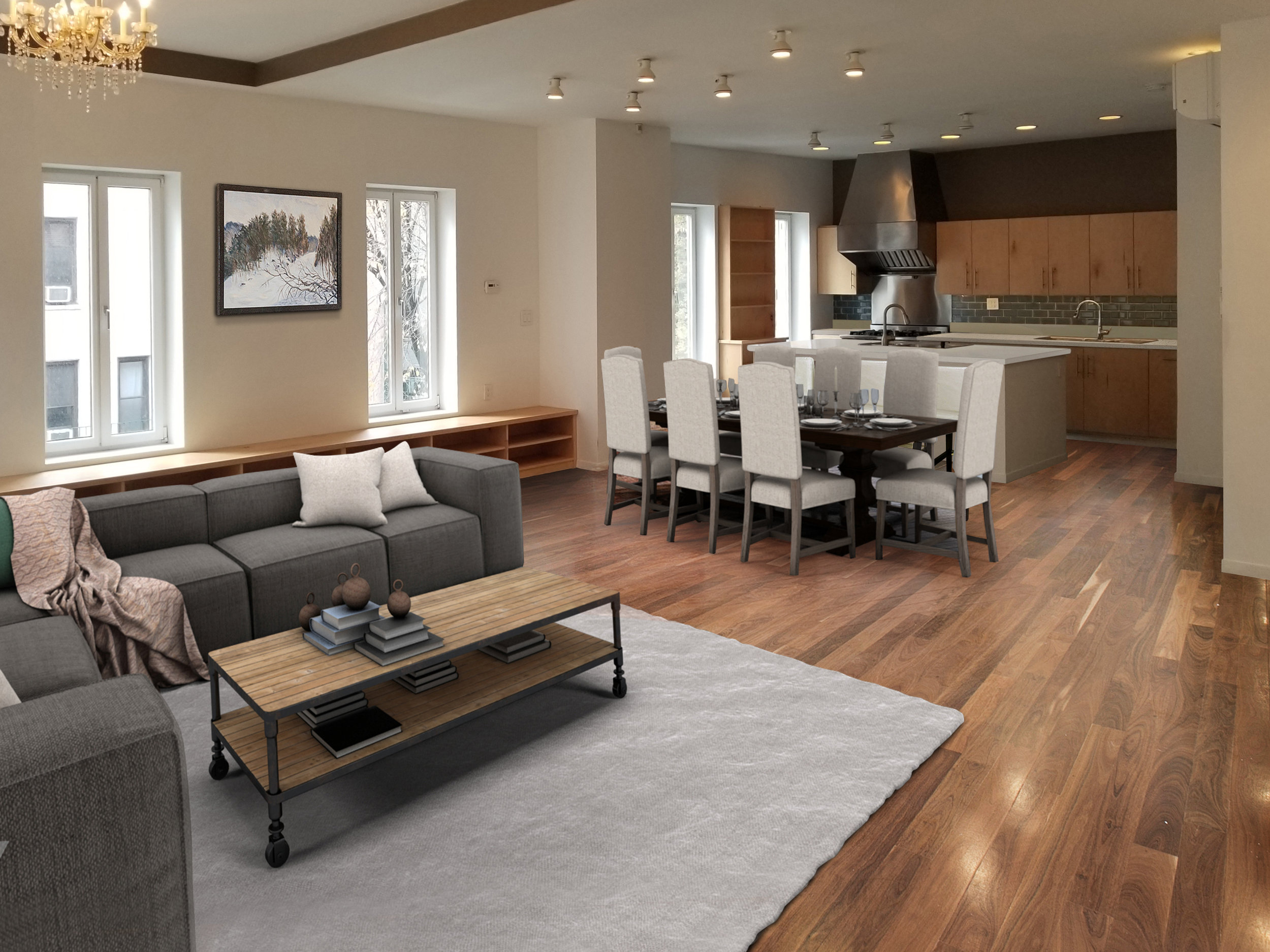 Artist's renderings of interior finishes