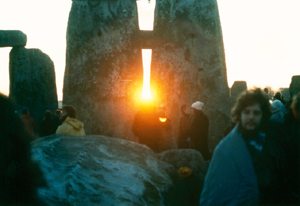 solstice at Stonehenge in the 80s by Mark Grant