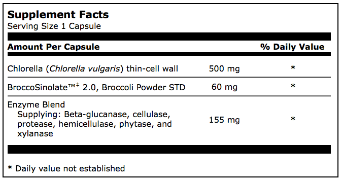 Other Ingredients: Vegetarian capsule (hydroxypropyl methylcellulose, water), L-leucine, cellulose, and silicon dioxide.