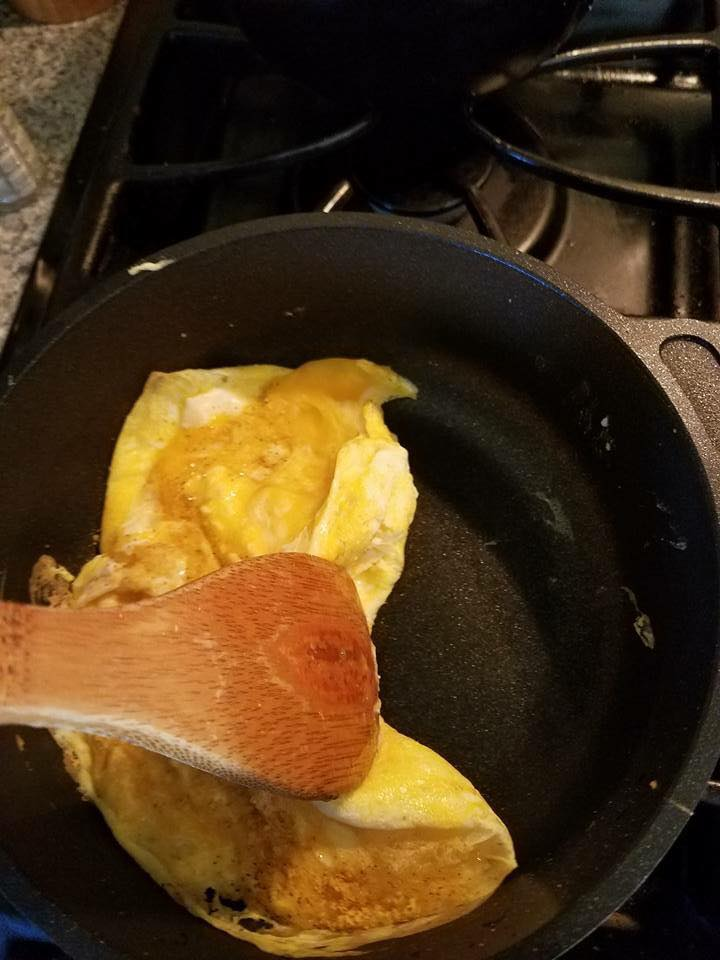 Cooking eggs and they don't stick one bit!