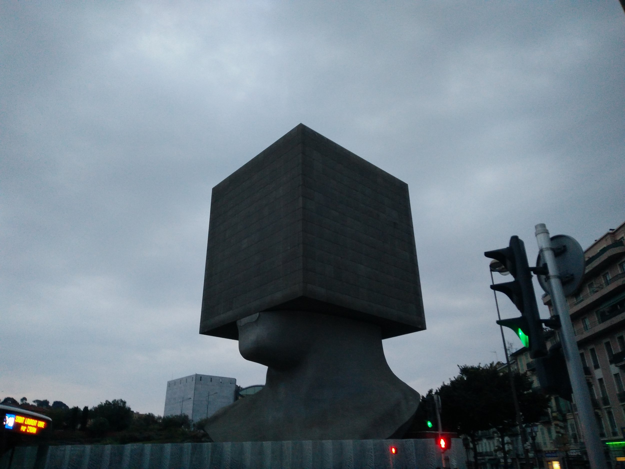 Square Head by Sacha Sosno in Nice, France.