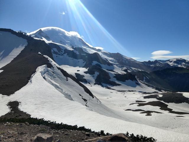 Frying Pan Gap, the highpoint on the Wonderland Trail around Mt. Rainier