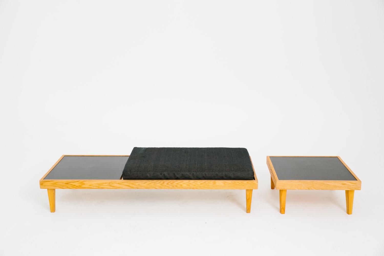 Denim Bench with Corner Piece