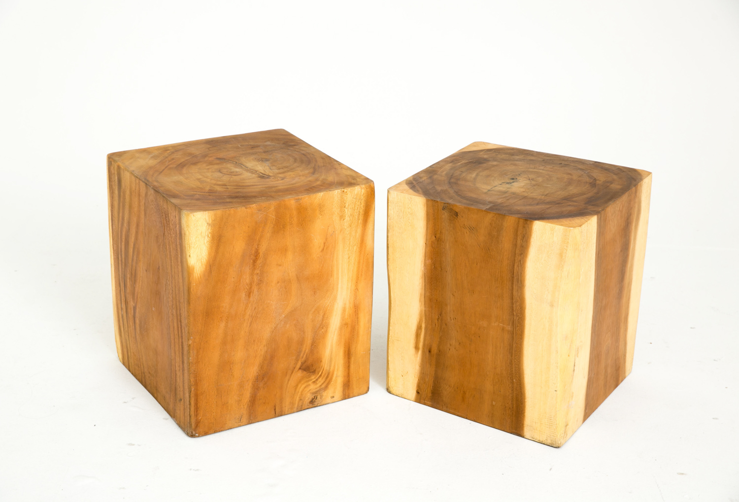 Walnut Cube Coffee Tables