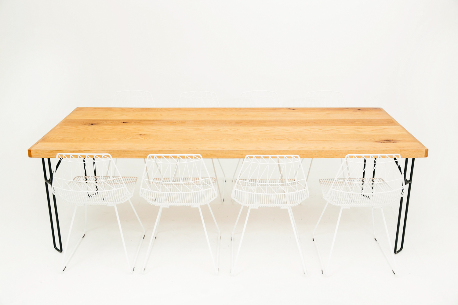 Yeah! Dining Table w/ 8 Bend Lucy Chairs