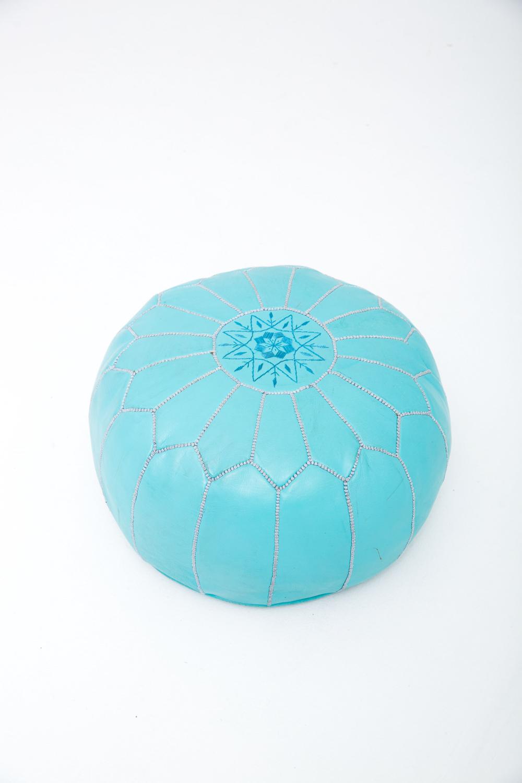 Bubblegum Blue Pouf