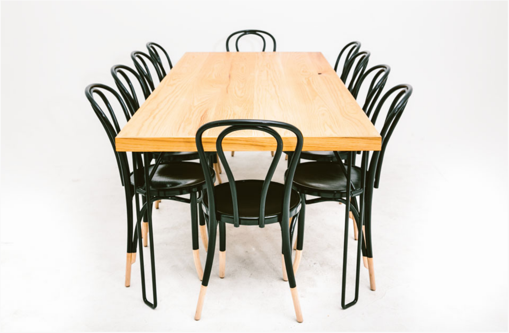 Yeah! Dining Table w/ Tuxedo Hairpin Chairs