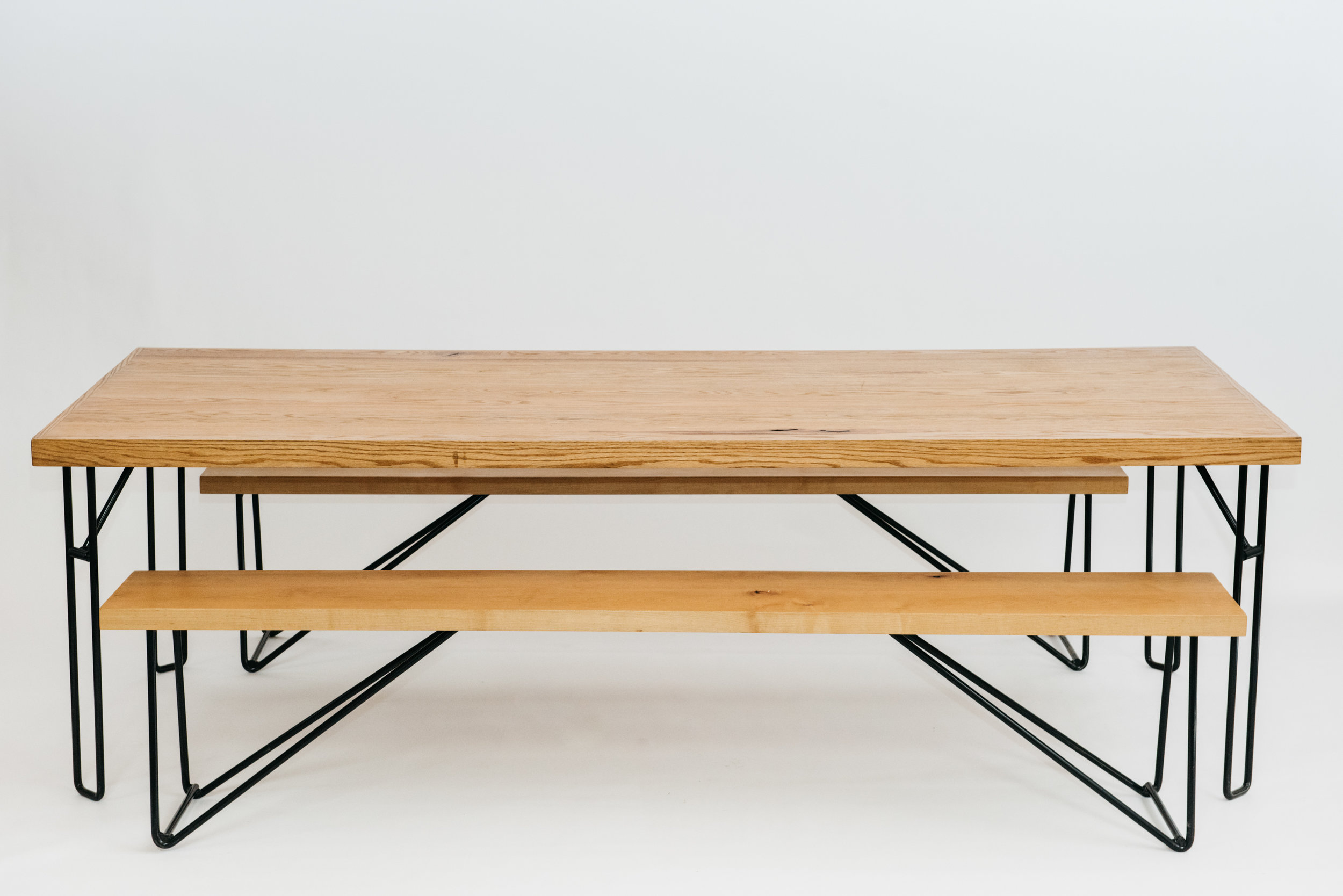 Yeah! Dining Table with Yeah! Benches