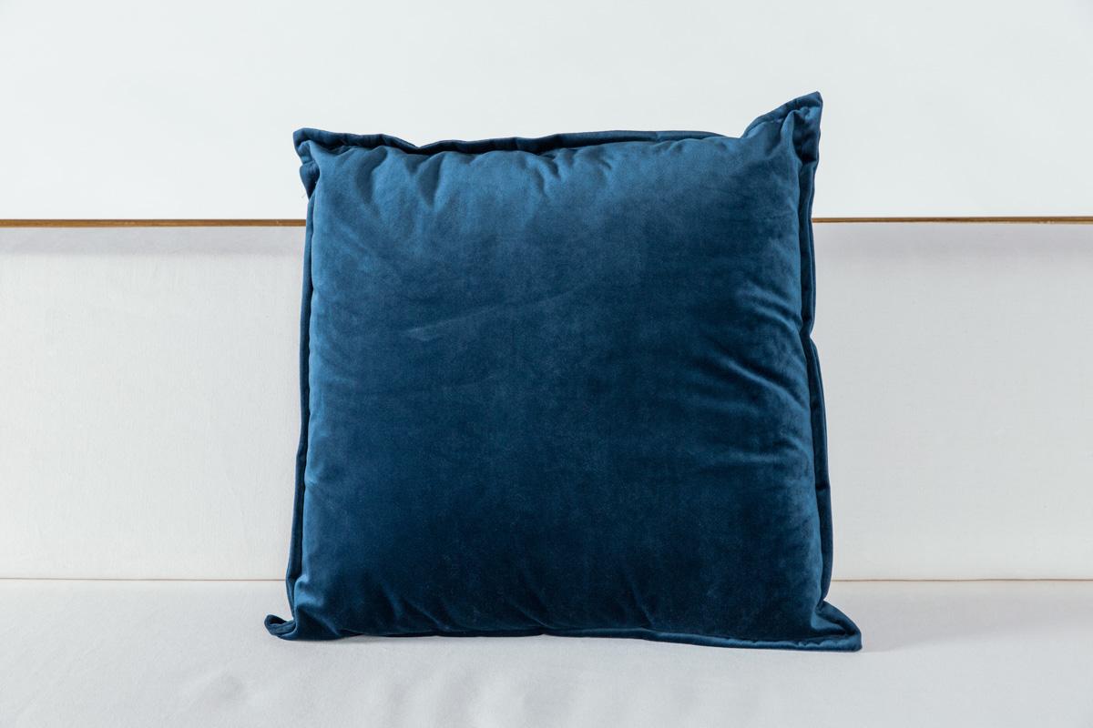 Cobalt Velvet Pillow