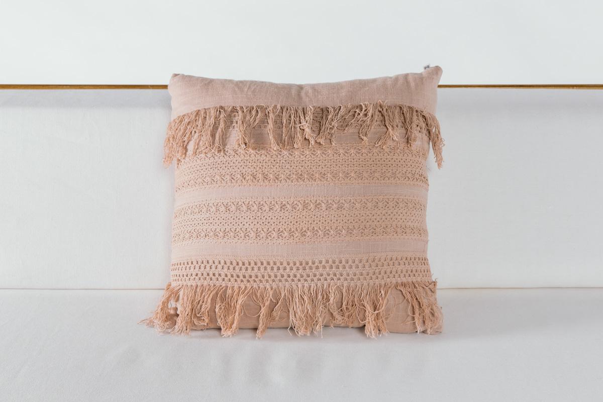 Blush Crochet Pillow