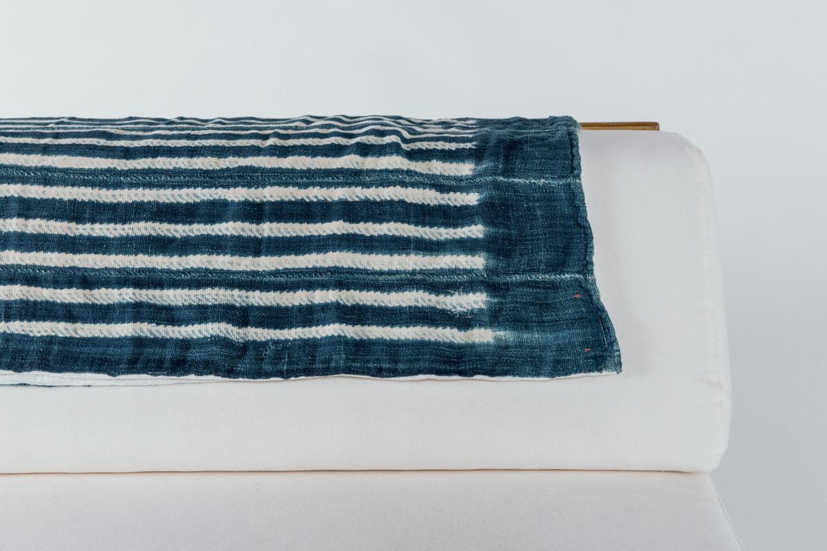 White Lines Shibori Blanket