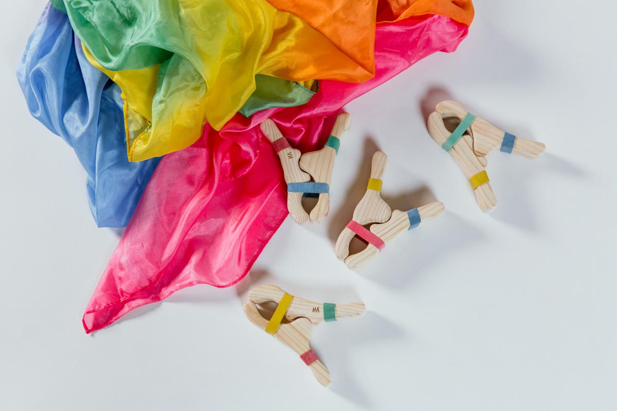 Rainbow Silk with Clips