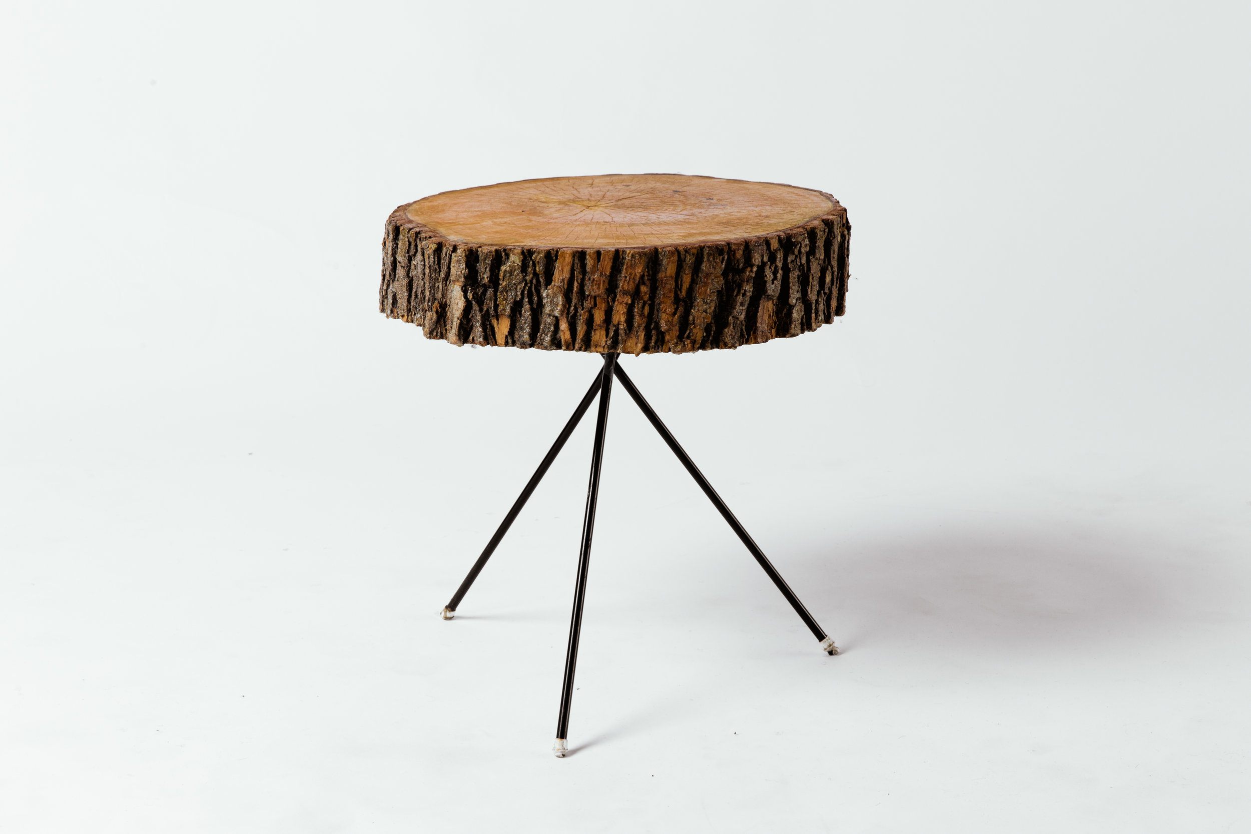 Round Live Edge Side Table