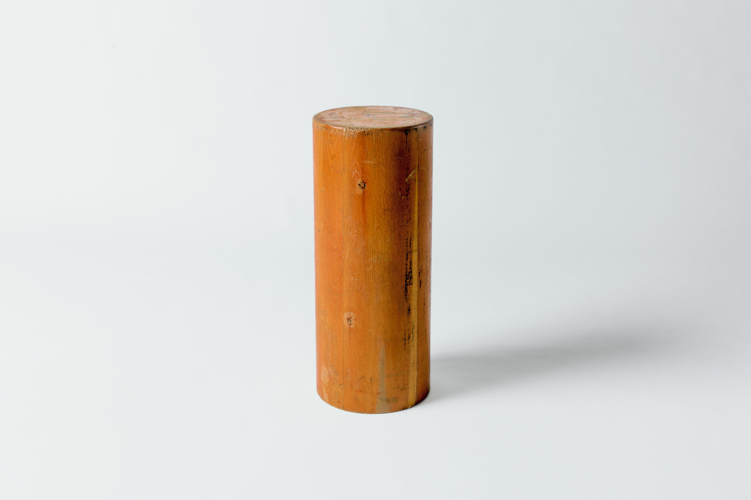 Tall Narrow Cylinder End Table