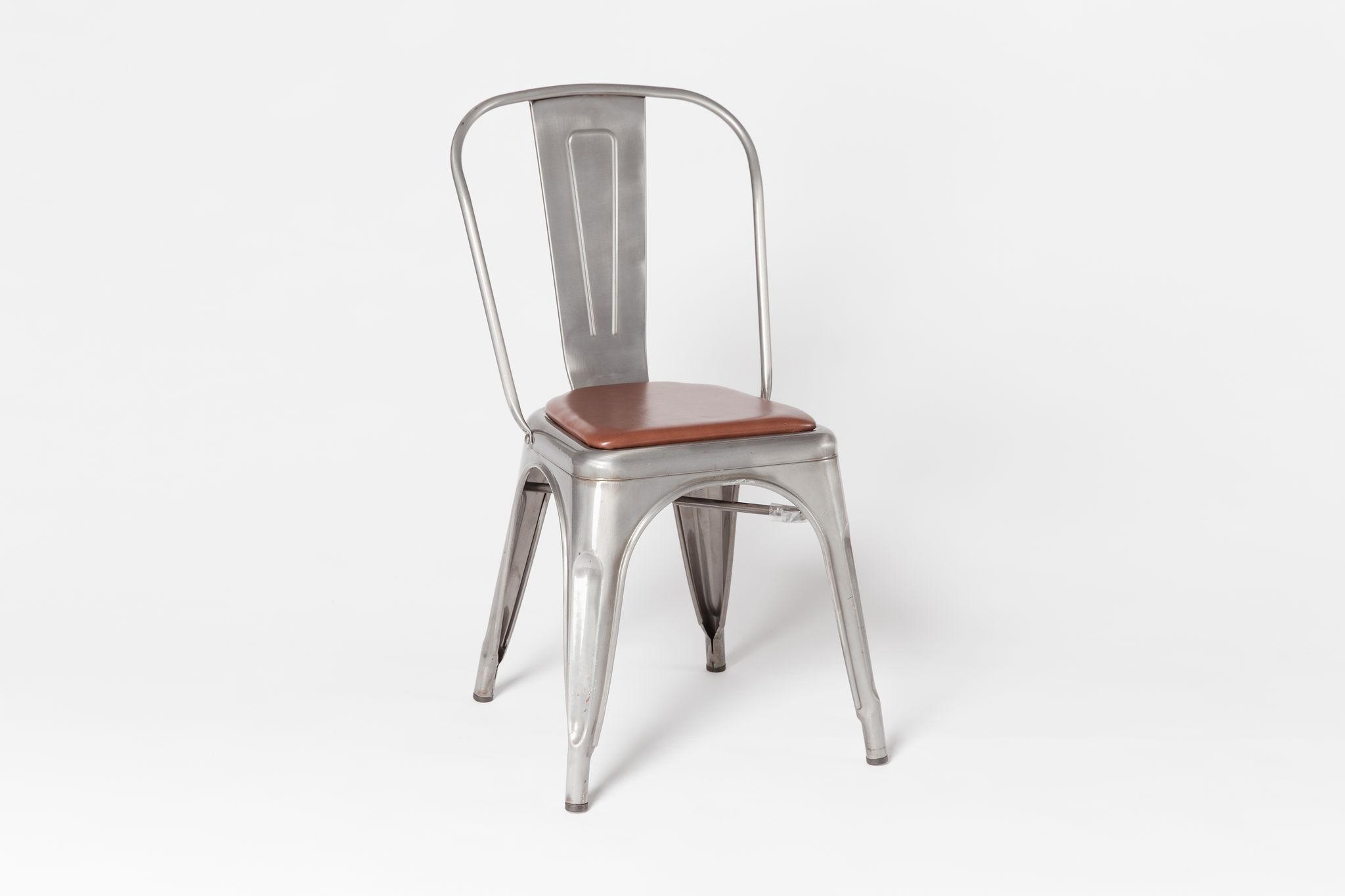 Tolix Steel w/ Leather Seat