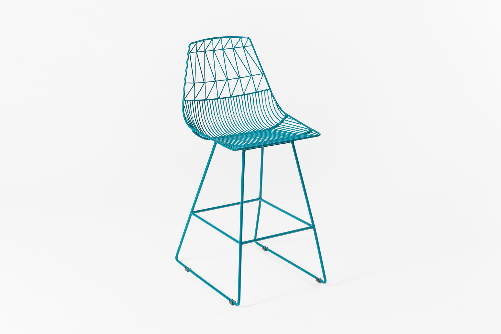 Bend Lucy Counter Stool Peacock Blue