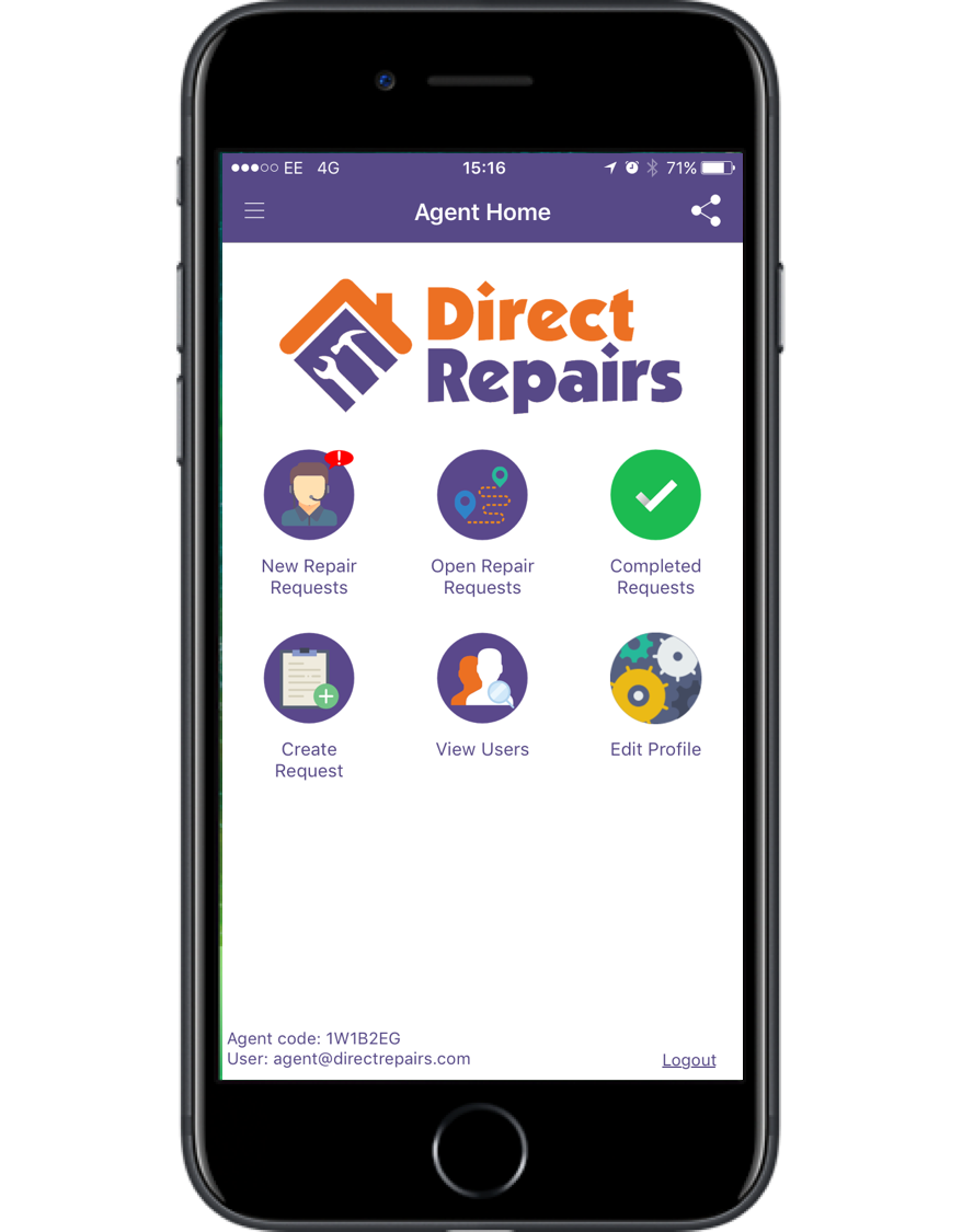 Direct Repairs - New app launch