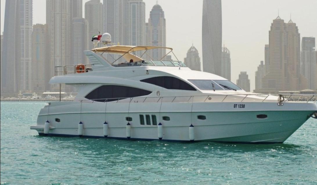 77' Majesty - 20134 hr $3,0008 hr $5,000Week $30,000 + Expenses