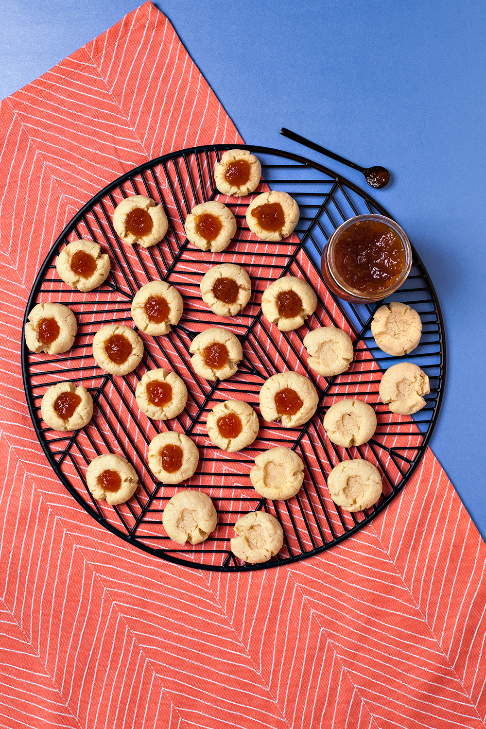 Gluten-free Almond Thumbprints - with Caramel Apple + Ginger Fruit Spread