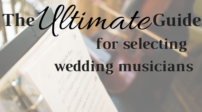 The ultimate guide to selecting wedding musicians by White Pines Entertainment. Background image captured by Jeffrey Lewis Bennett of  Jeffrey Bennett Photography