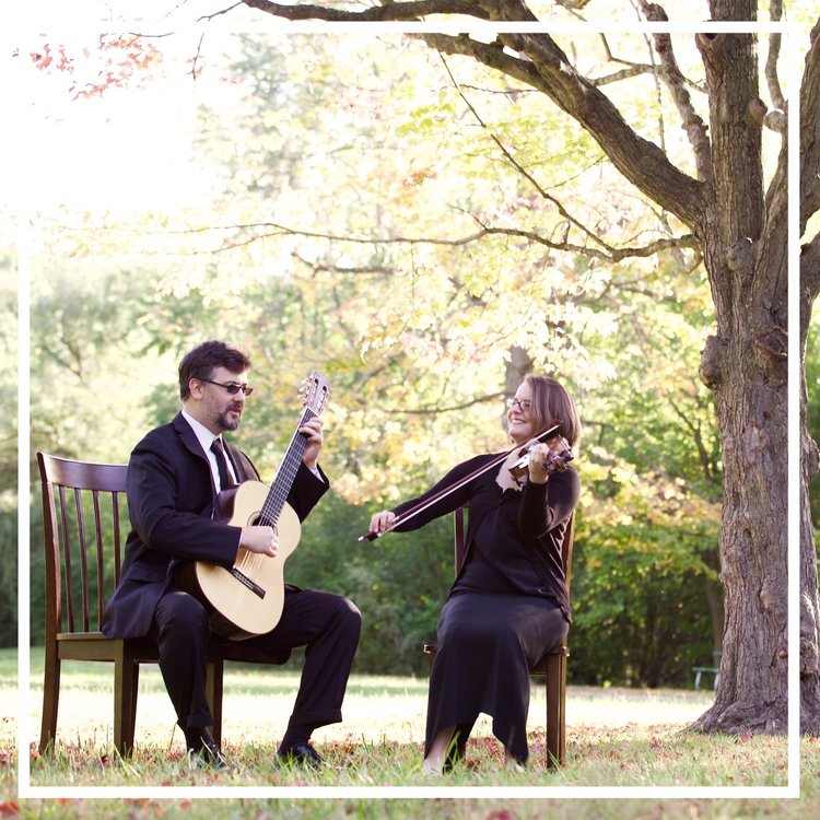 Our violin and guitar duet is available for wedding ceremonies and special events.