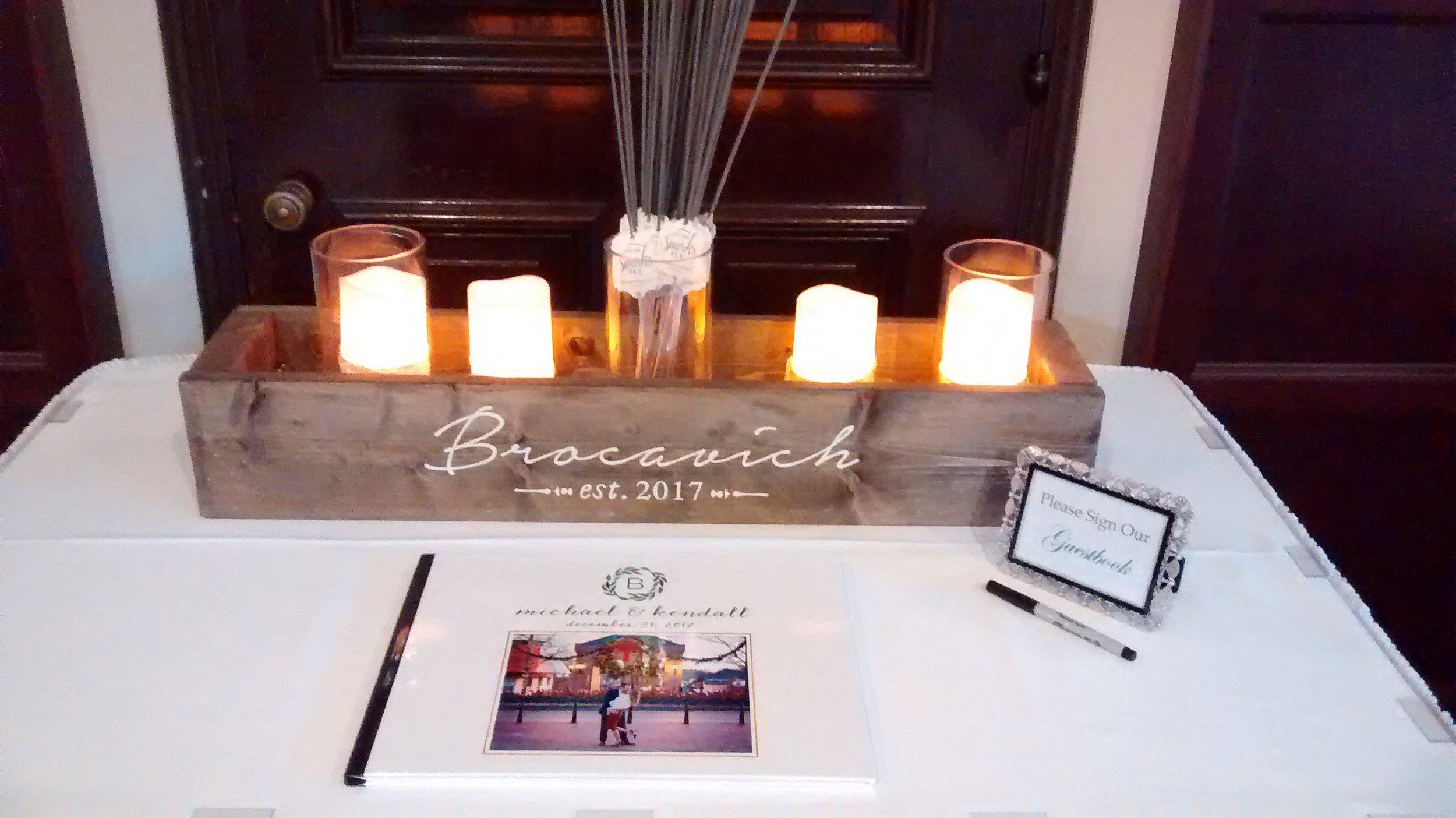 Beautiful guestbook display!