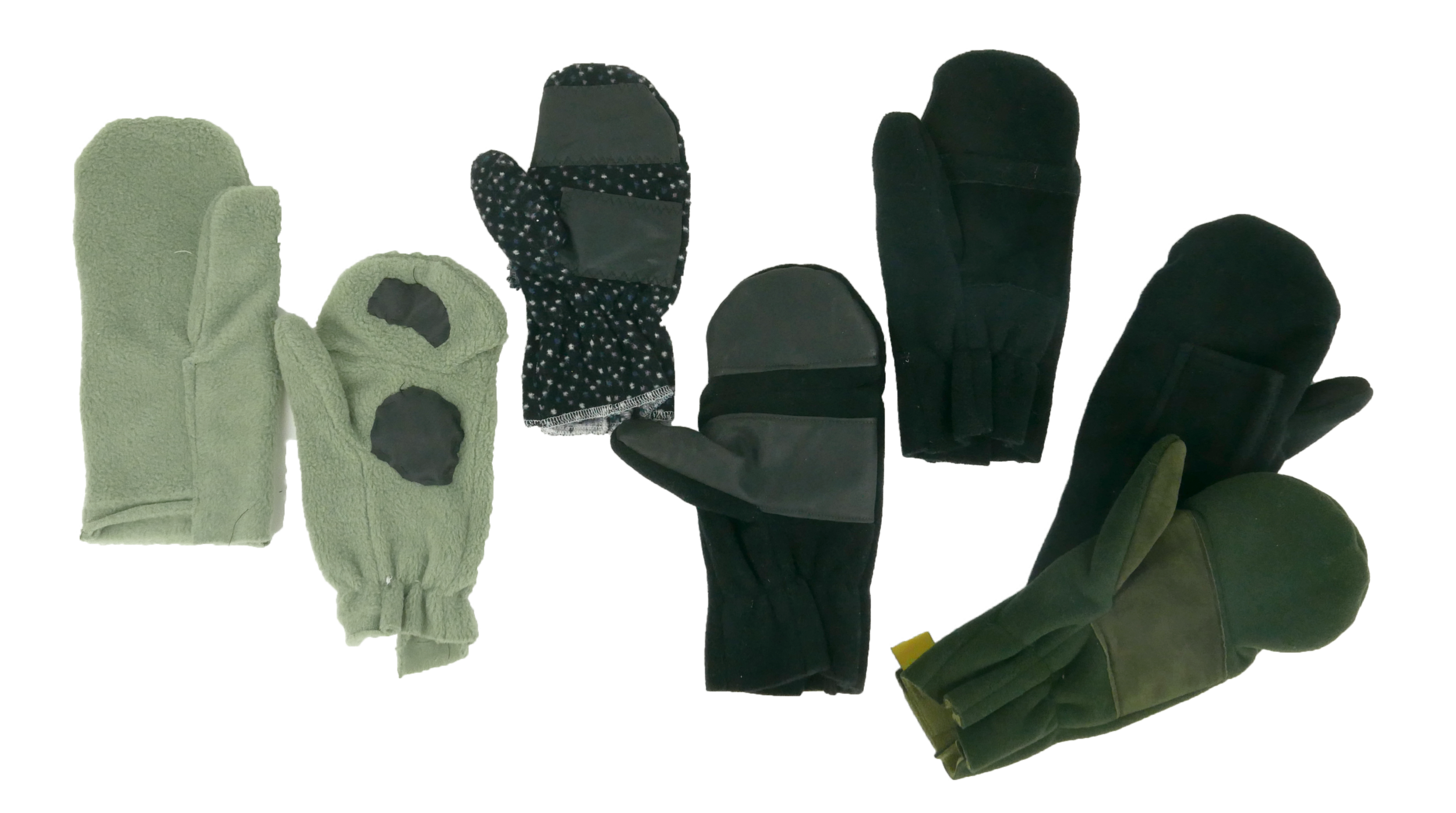 """6 Design Phases - The material is top quality fleece. It conforms with the hand. I removed the excess bulk. There's a suede palm patch for grip and one of the best things about these is they're 100 percent wind resistant, so you don't feel any cold,"""" Loffredo said."""