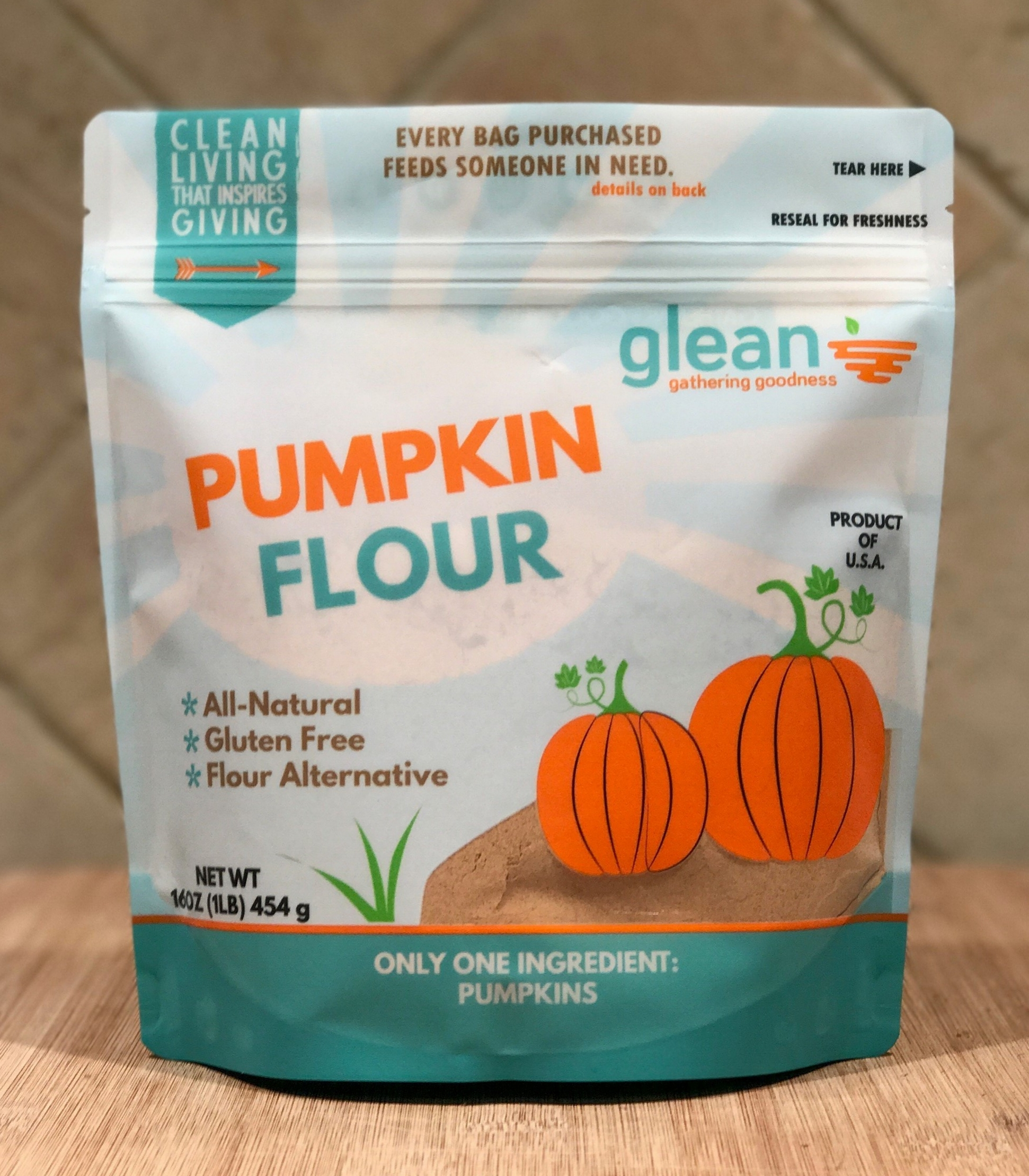 Pumpkin Flour sold by Live Glean. It is now available on Amazon and their website!