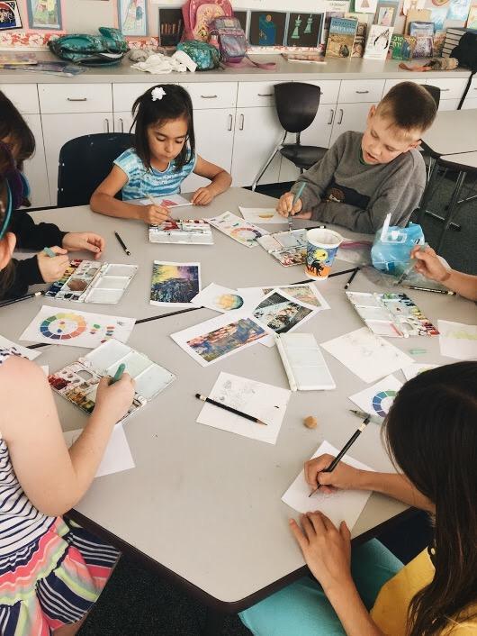 Monet & Color Wheel Studies