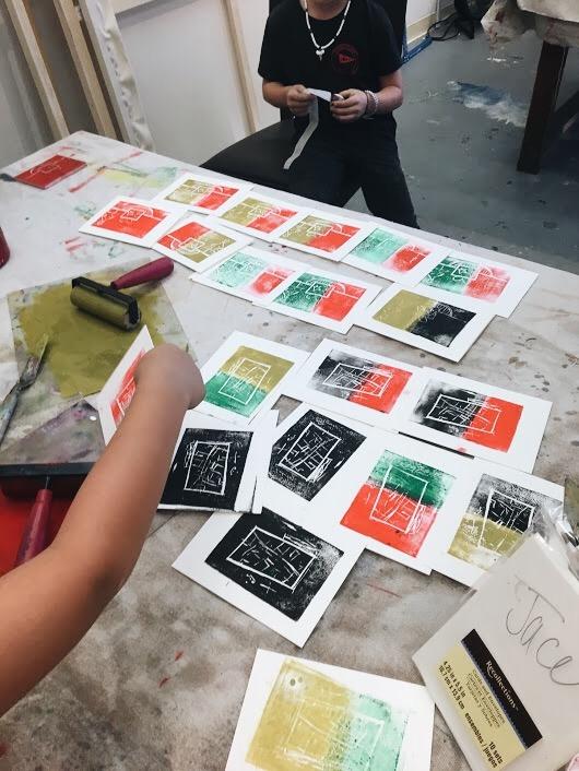 Holiday Card Block Prints