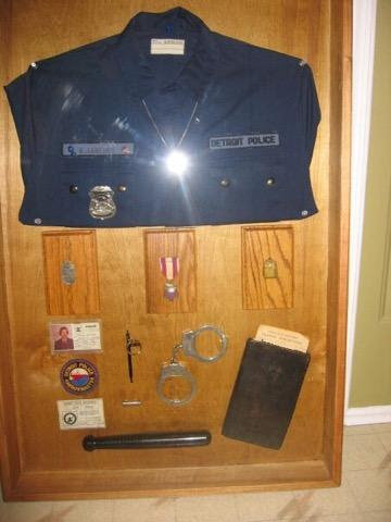 Officer Larkins shadow box