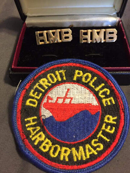 Detroit Police Harbormaster Patch and Collar Brass