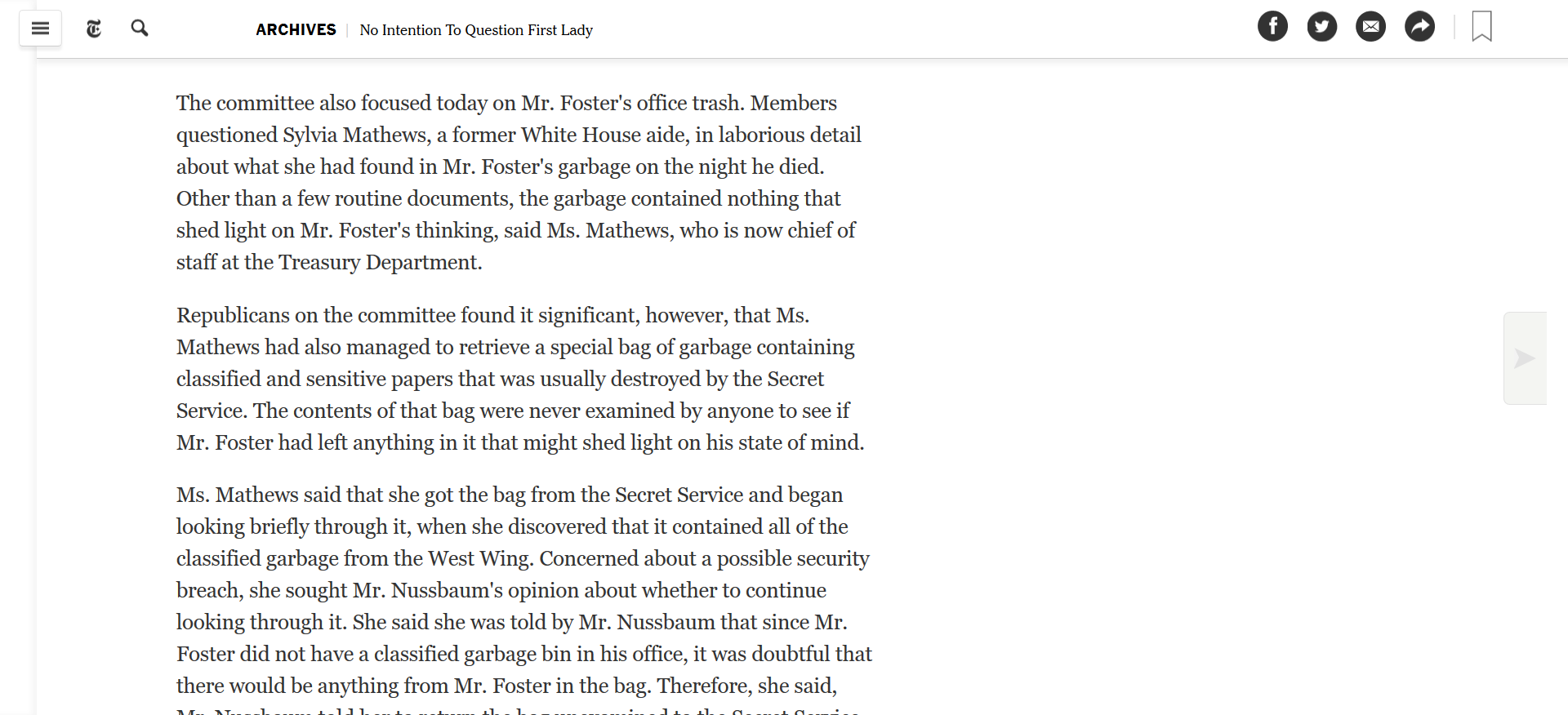 Mathews Vince Foster garbage then became head of Treasury.png