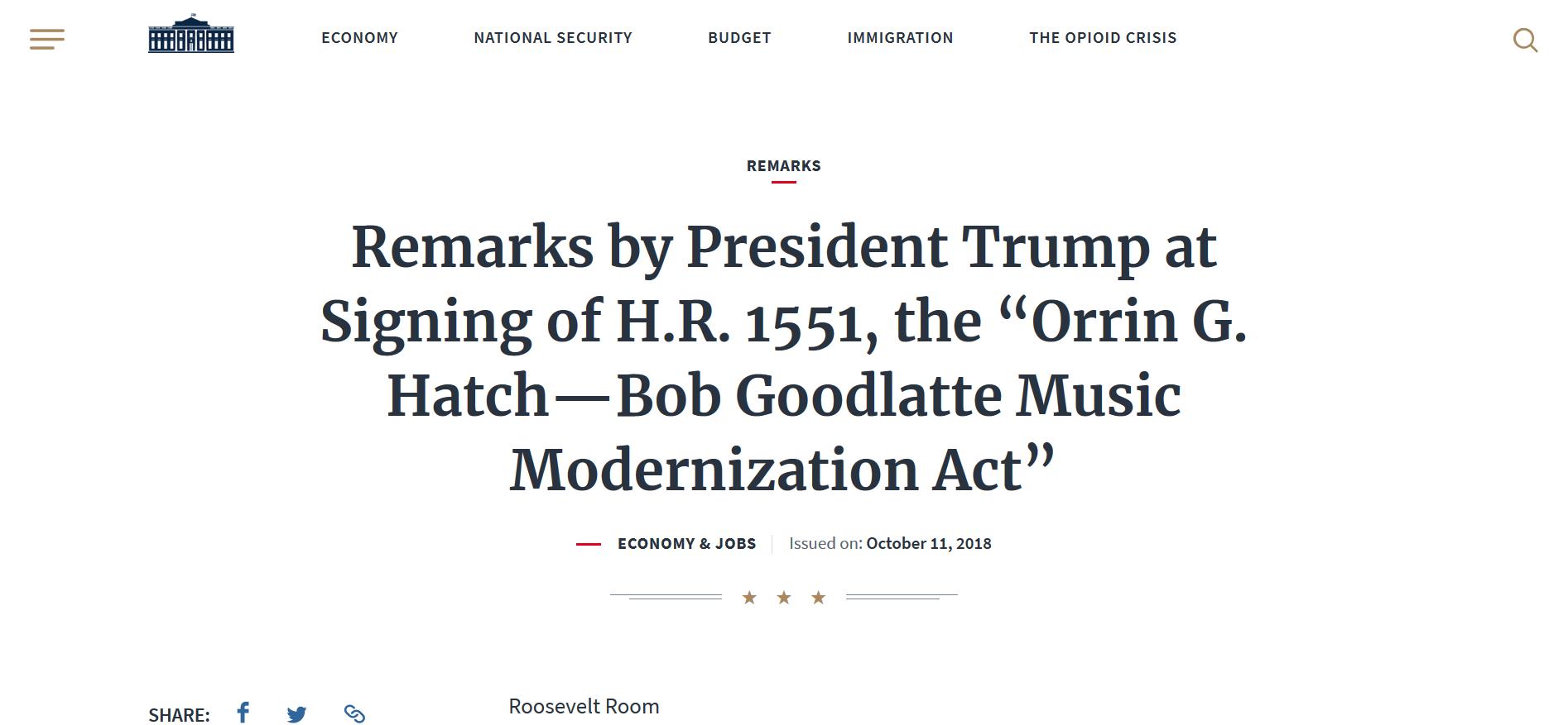 Screenshot_2018-10-12 Remarks by President Trump at Signing of H R 1551, the Orrin G Hatch—Bob Goodlatte Music Modernizatio[...](1).png