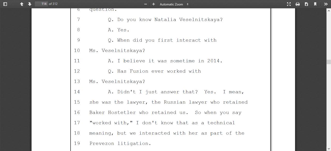 Natalia Veselnitskaya hired Baker Hostetler hired Fusion GPS.png