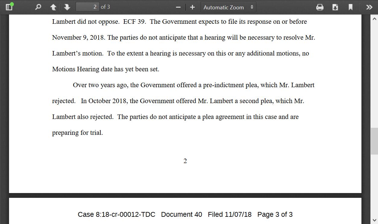 Lambert refused two plea deals doc.png