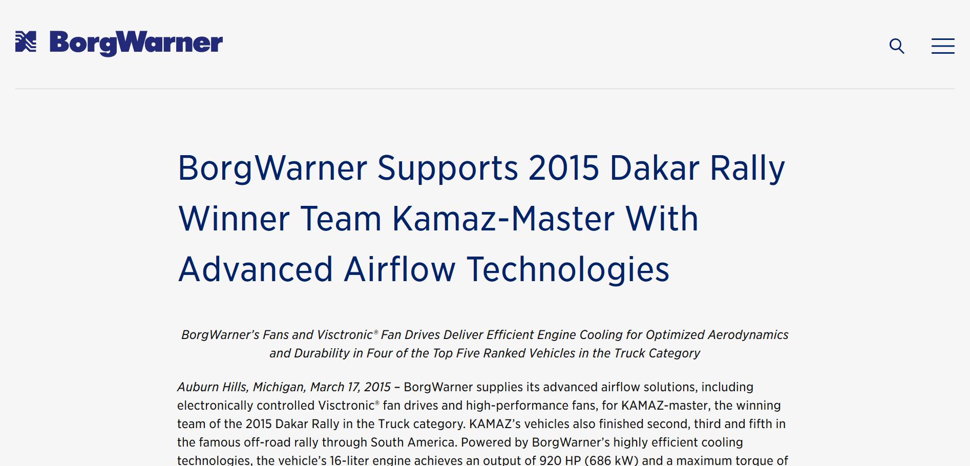 BorgWarner press release KAMAZ.png