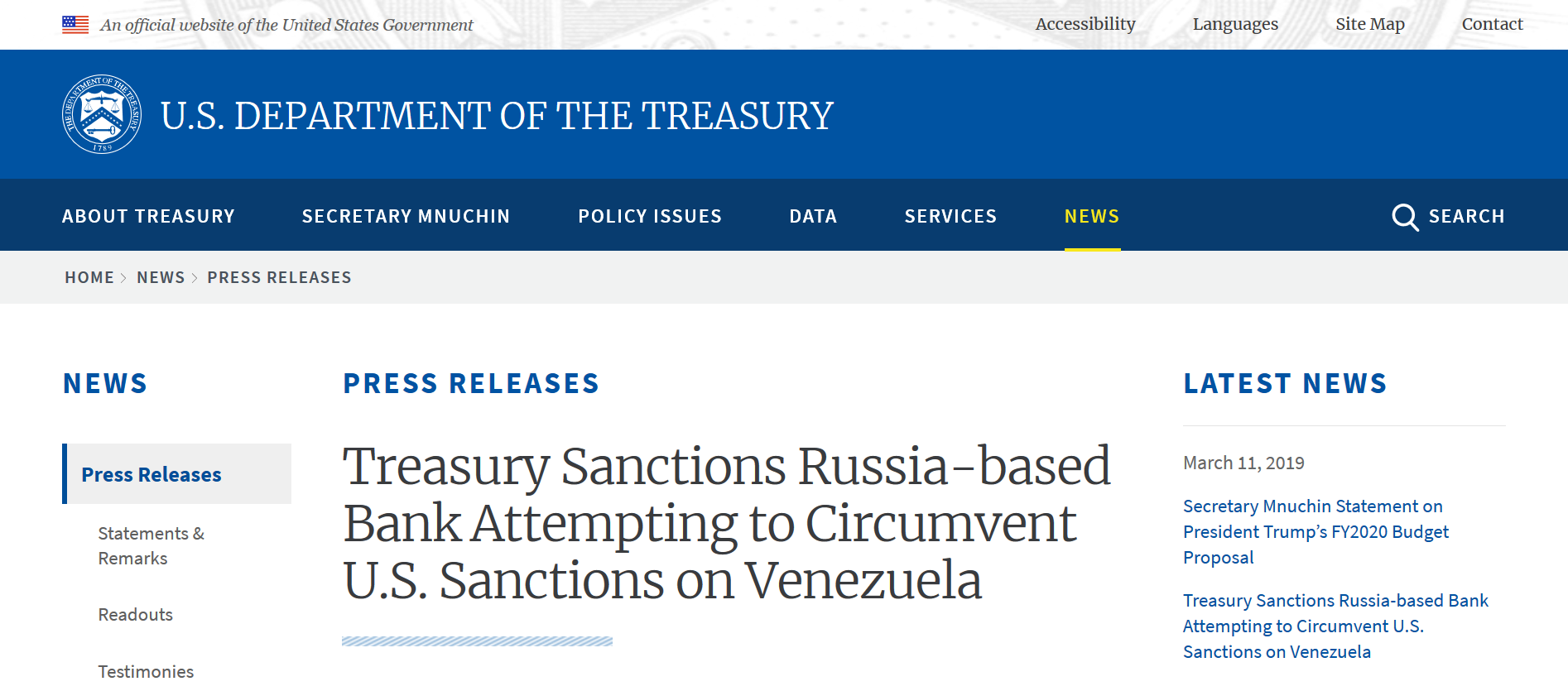 Venezuela sanctions March 11th 2019 Russian banks.png