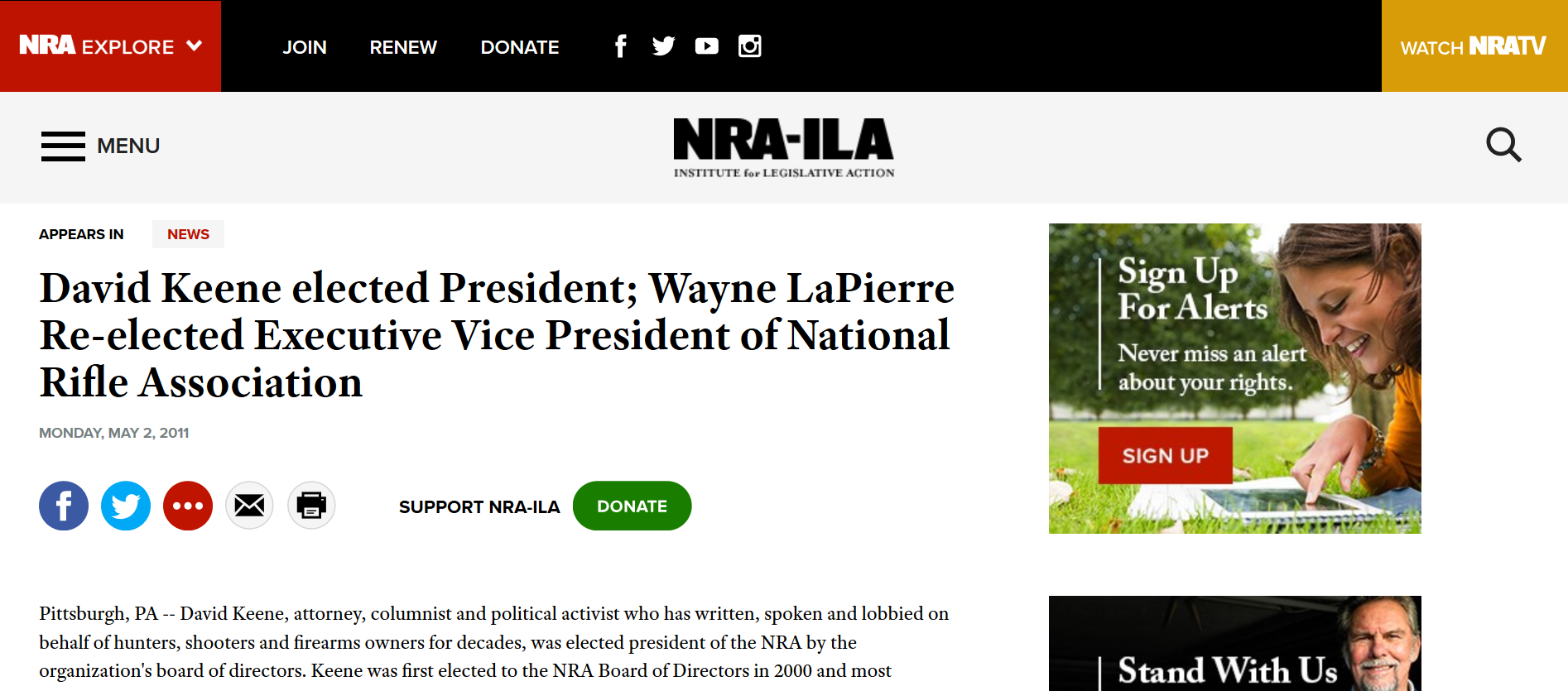 Keene elected NRA prez 2011 to 2013.png