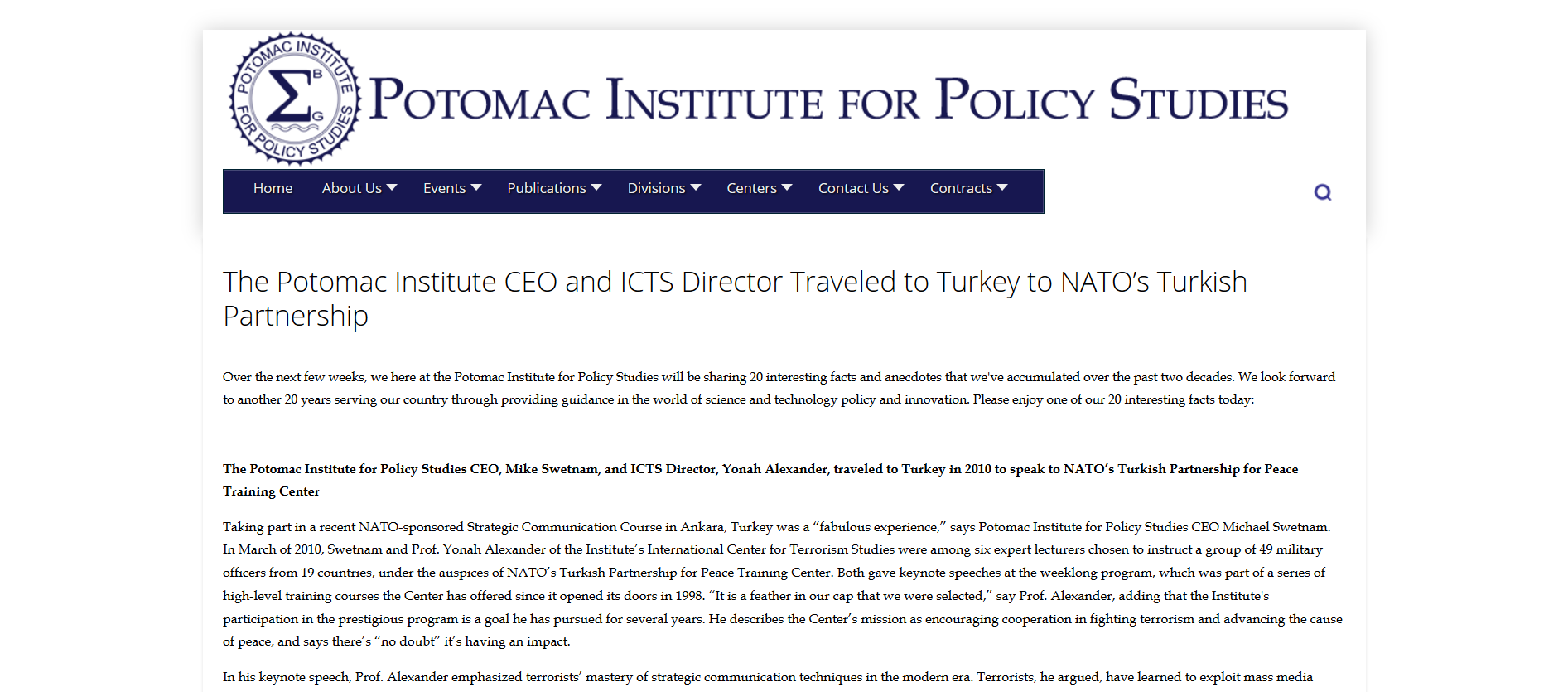 Potomac Institute 2010 and NATO Turkey.png