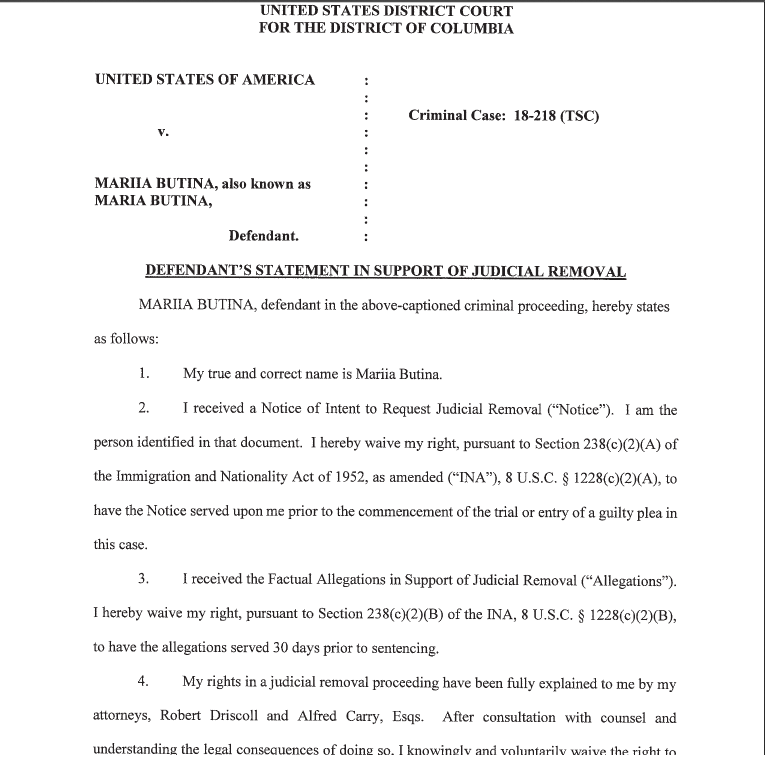 Waiver Butina page one .png