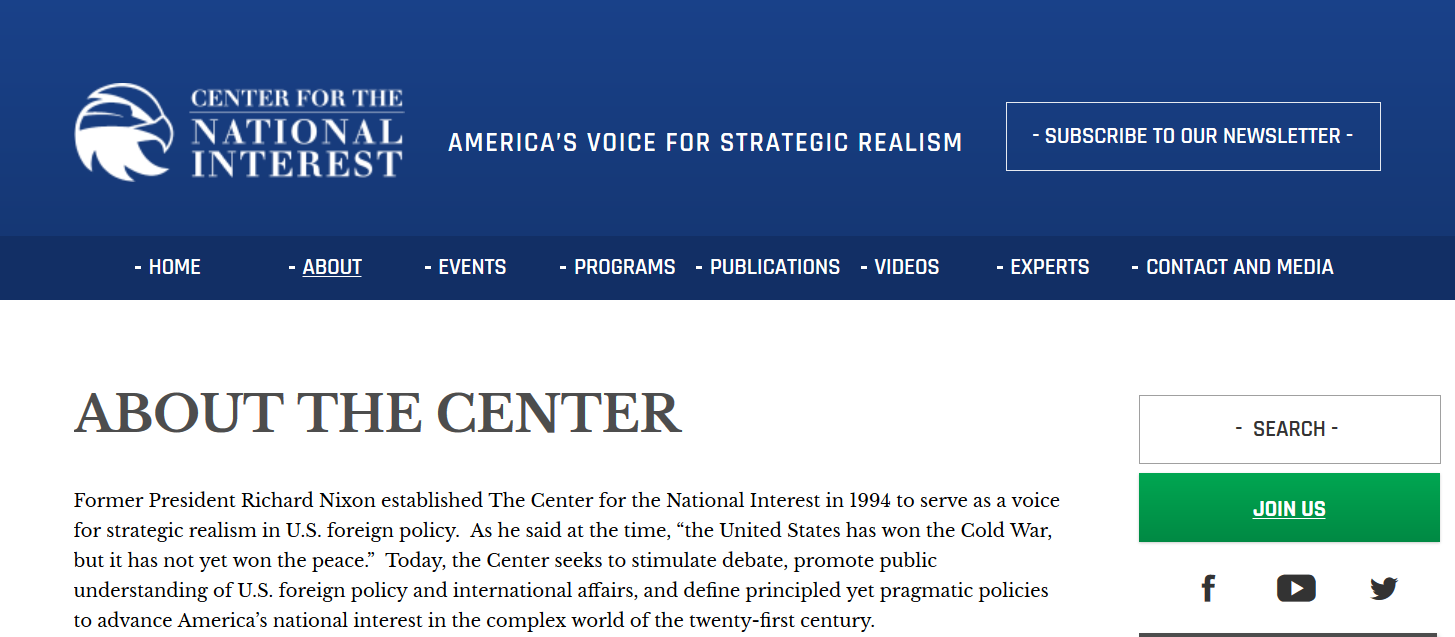 Center for National Interest page one.png