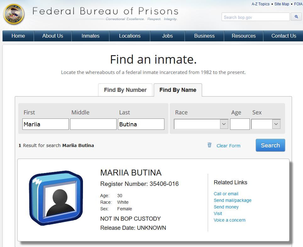 Butina not in custody.png
