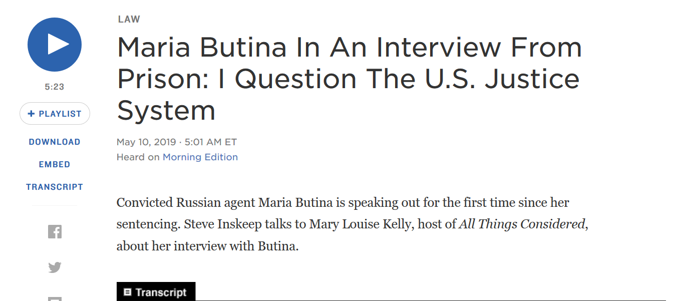 Butina NPR interview from jail May 10th 2019.png