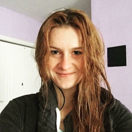 Butina wet hair photo smile.png